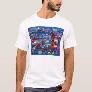 Camiseta 1 design ABSTRATO do AZUL