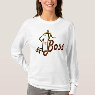 Camiseta # 1 t-shirt legal do design de texto do chefe para
