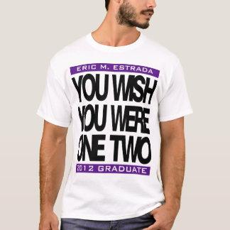 Camiseta 2012 customizáveis graduados você t-shirt dos mais