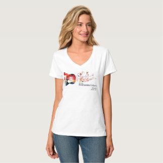 Camiseta 2017 celebração do DF - senhoras V - T do pescoço