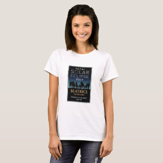 Camiseta 2017 eclipse solar total - Beatrice, NE