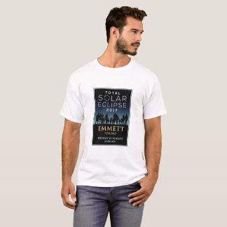 Camiseta 2017 eclipse solar total - Emmett, identificação