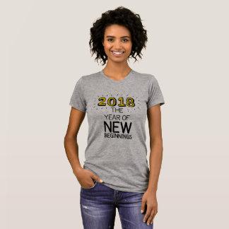 Camiseta 2018 o ano de começos novos