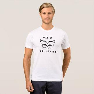 Camiseta 2018 V.A.D short a luva T com logotipo e definição