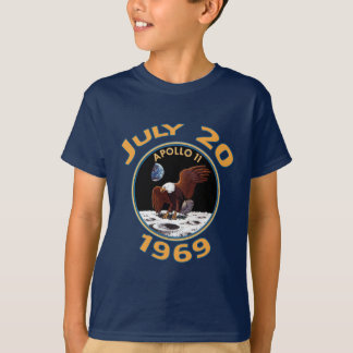 Camiseta 20 de julho de 1969 missão de Apollo 11 à lua