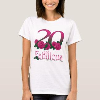 Camiseta 20 e 20o t-shirt fabuloso do aniversário