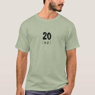 "Camiseta ""20 (x 2 "")! 40-Algo feito sob encomenda… -"