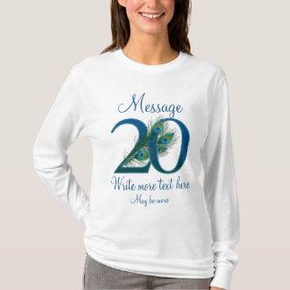 Camiseta 20o aniversário elegante personalizado do