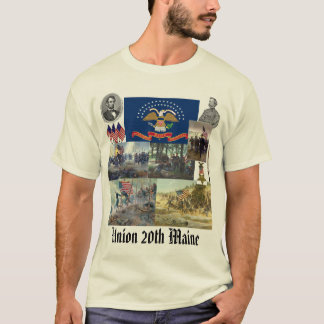 Camiseta 20o Guerra civil voluntária de regimento de