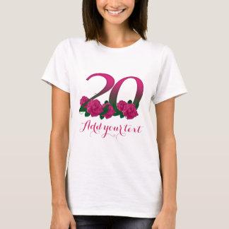 Camiseta 20o modelo 20 customizável personalizado