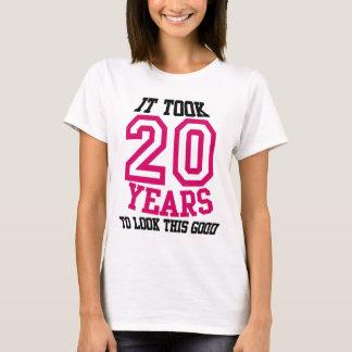 Camiseta 20o TSHIRT do aniversário