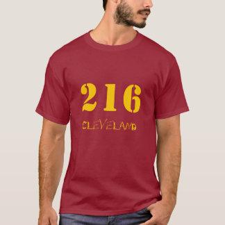Camiseta 216 vinho e ouro