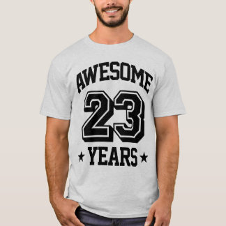 Camiseta 23 anos impressionantes