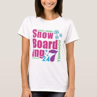 Camiseta 24/7 de embarque da neve