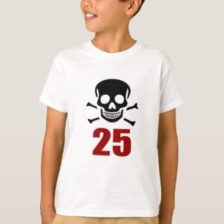 Camiseta 25 designs do aniversário