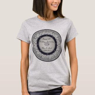 Camiseta 25o Aniversário de casamento de prata