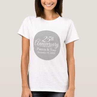 Camiseta 25o Aniversário de casamento personalizado