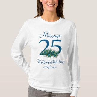 Camiseta 25o aniversário elegante personalizado do