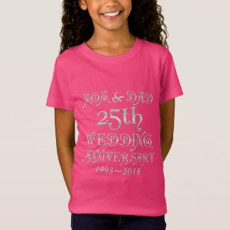 Camiseta 25o O aniversário de casamento Parents a