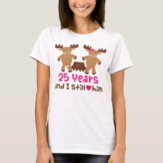 Camiseta 25o Presente do aniversário para ela