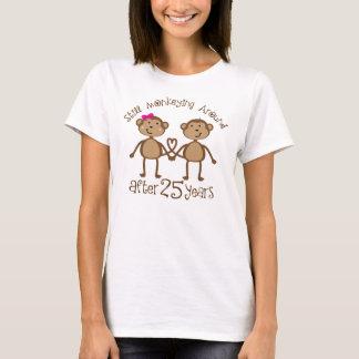 Camiseta 25o Presentes do aniversário de casamento