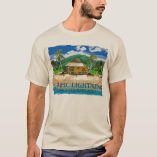 Camiseta 25o Relâmpago tropical Havaí da divisão de