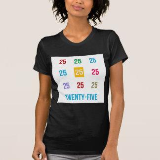 Camiseta 25os 25 vigésimos quintos PRESENTES do aniversário