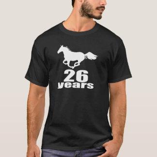 Camiseta 26 anos de design do aniversário
