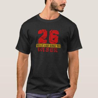 Camiseta 26 hoje e nenhuns o mais sábio