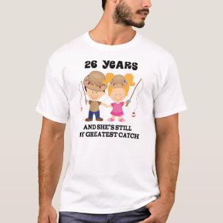 Camiseta 26o Presente do aniversário de casamento para ele