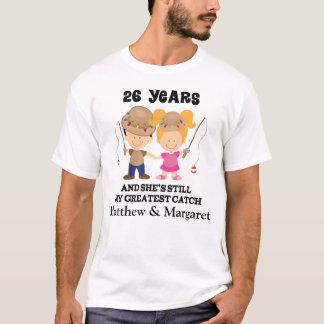 Camiseta 26o Presente feito sob encomenda do aniversário