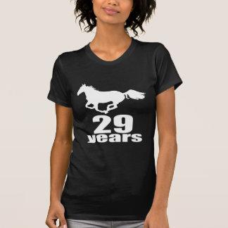 Camiseta 29 anos de design do aniversário
