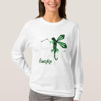Camiseta 2D Esboço feericamente verde do absinto