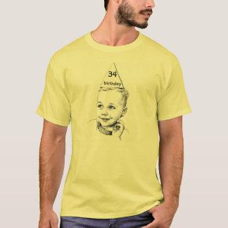 Camiseta 34o ou 27o ou 68th aniversário customizável