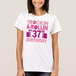 Camiseta 37th Ideia do presente de aniversário para a fêmea