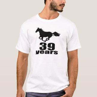 Camiseta 39 anos de design do aniversário