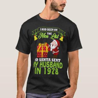 Camiseta 39th TShirt do aniversário para a esposa no Xmas