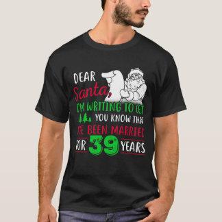 Camiseta 39th Tshirt do Natal, presente do divertimento