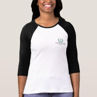Camiseta 3/4 de logotipo do comprimento GHR na parte