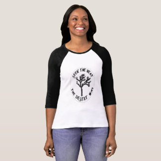 Camiseta 3/4 de luva T perfeita para o divertimento no Sun
