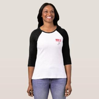 Camiseta 3/4 de t-shirt da luva