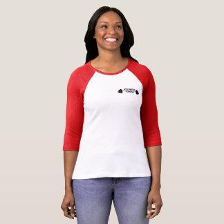 Camiseta 3/4 de t-shirt do basebol das mulheres do