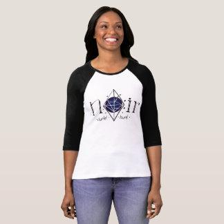 Camiseta 3/4 pastor de braço de comprido Noir logótipo