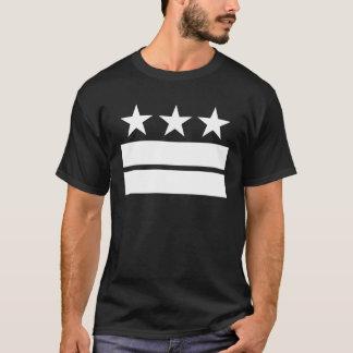 Camiseta 3 estrelas 2 bares de t-shirt preto