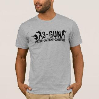 Camiseta 3-Gun - Pistola - carabina - espingarda