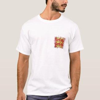 Camiseta 3 leões com efeito rasgado