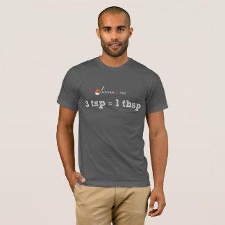 Camiseta 3 tsp = 1 tbsp