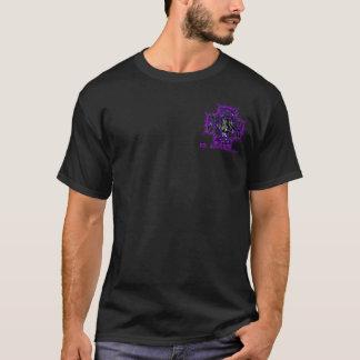 Camiseta 3D roxo do logotipo de Trabalhos de arte, Inc.