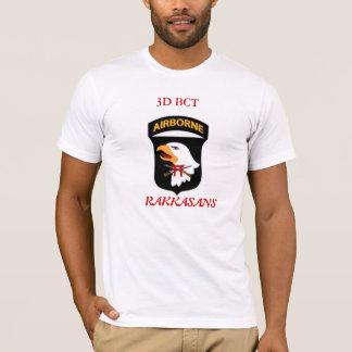 Camiseta 3D t-shirt branco do BCT 101st Abn com rifles