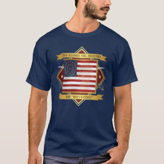 Camiseta 3ø Infantaria voluntária de Illinois